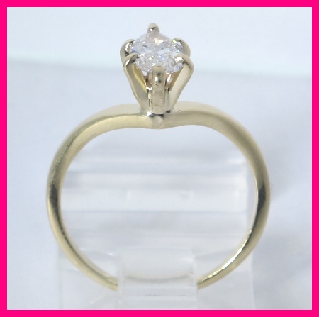 ladies 14kyg marquise diamond engagement ring 65ct ebay
