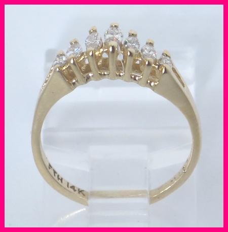14kyg Marquise Diamond Graduated Anniversary Ring 25ct Ebay