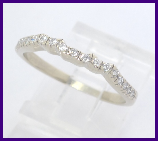 ... about 14k White Gold Round Diamond Wedding BandRing Jacket Wrap .34ct