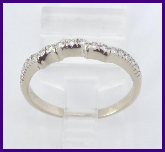 About 14k White Gold Round Diamond Wedding Band Ring Jacket Wrap 34ct