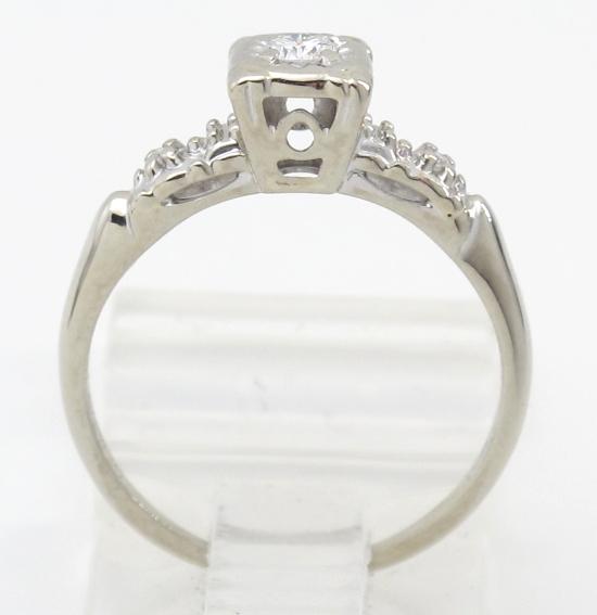 14k white gold vs antique engagement ring