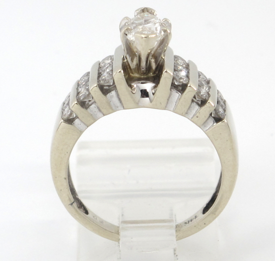 14k white gold marquise engagement ring 1