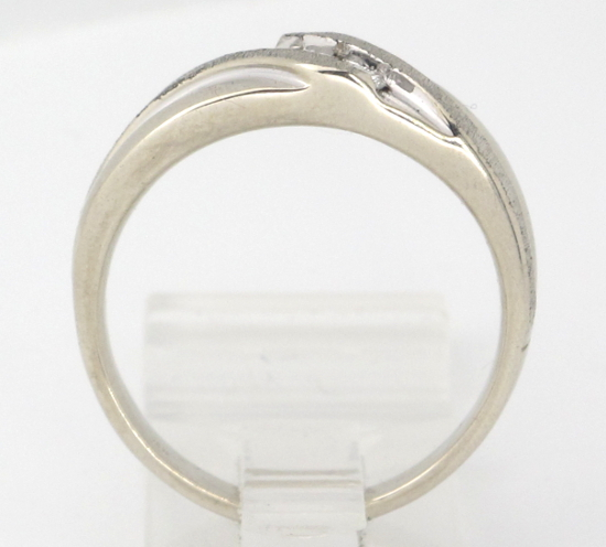 mens 14k white gold brushed finish wedding