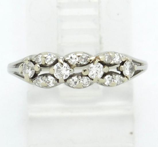 18k White Gold Round Diamond Wedding Anniversary Right Hand Ring 48ct