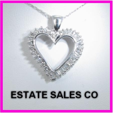 10k Round Amp Baguette Diamond Heart Charm Necklace 88ct EBay